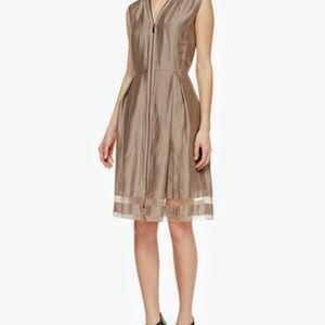 New! Elie Tahari Sleeveless Sheer-Hem Dress- 12